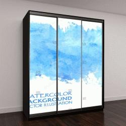"""Шкаф купе с фотопечатью """"Светло вода синий абстрактный баннер для веб-дизайна"""""""
