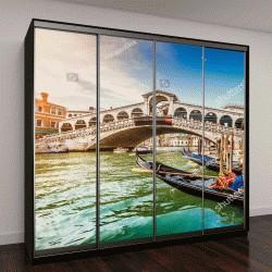 """Шкаф купе с фотопечатью """"Панорамный вид на знаменитый Гранд-Канал с моста Риалто на закате в Венеции"""""""