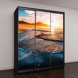 """Шкаф купе с фотопечатью """"Удивительный пляж на закате с бесконечным горизонтом волнами"""""""