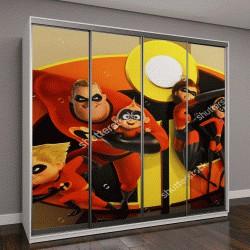 """Шкаф купе с фотопечатью """"постер Суперсемейка 2 """""""