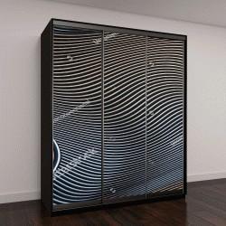 """Шкаф купе с фотопечатью """"волнистые поверхности металлического цвета"""""""