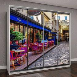 """Шкаф купе с фотопечатью """"Типичный вид на парижские улицы """""""