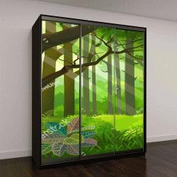 """Шкаф купе с фотопечатью """"Лучи солнечного света в густых джунглях"""""""