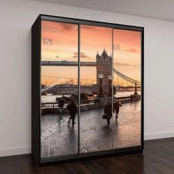 """Шкаф купе с фотопечатью """"Тауэрский мост в Лондоне во время восхода """""""