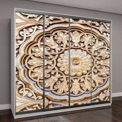 """Шкаф купе с фотопечатью """"удивительно красивый традиционный узбекский орнамент, вырезанный на деревянной двери мечети"""""""