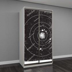 """Шкаф купе с фотопечатью """"планеты на орбите"""""""