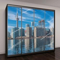 """Шкаф купе с фотопечатью """"Торонто с отражением в озере"""""""