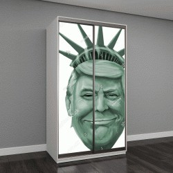 """Шкаф купе с фотопечатью """"карикатура Дональд Трамп"""""""