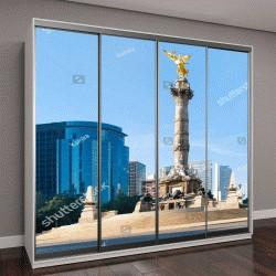 """Шкаф купе с фотопечатью """"Ангел независимости в Мехико"""""""