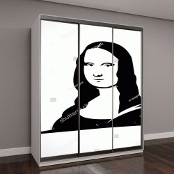 "Шкаф купе с фотопечатью ""Леонардо да Винчи ""Мона Лиза"" вектор"""