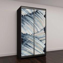 """Шкаф купе с фотопечатью """"Абстрактная картина, слегка изогнутые цветные штрихи"""""""