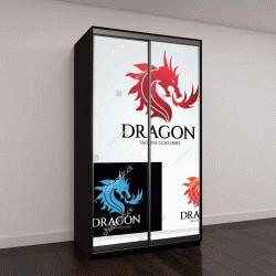 """Шкаф купе с фотопечатью """"Шаблон дизайна логотипа дракона ,векторные иллюстрации"""""""