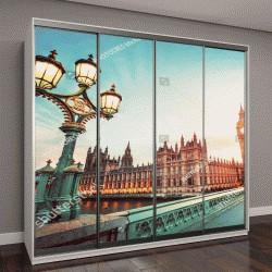 """Шкаф купе с фотопечатью """"Биг Бен, Лондон, Великобритания"""""""
