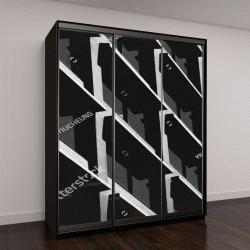 """Шкаф купе с фотопечатью """"Абстрактный узор, черная и белая архитектура"""""""