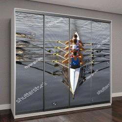 """Шкаф купе с фотопечатью """"гребцы в красивейшем итальянском озере"""""""