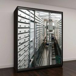 """Шкаф купе с фотопечатью """"Автоматизированная больничная аптека"""""""