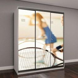 """Шкаф купе с фотопечатью """"дети играют в теннис на корте"""""""