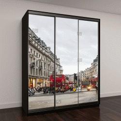 """Шкаф купе с фотопечатью """"вид на Оксфорд стрит в Лондоне"""""""