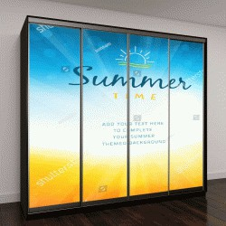 """Шкаф купе с фотопечатью """"Летнее время: солнце и песок"""""""