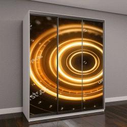 """Шкаф купе с фотопечатью """"Научная фантастика, футуристический 3D туннель"""""""