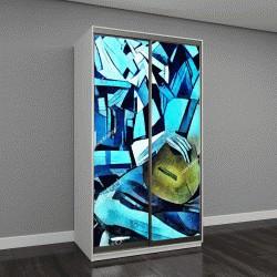 """Шкаф купе с фотопечатью """"Современное абстрактное искусство в стиле кубизма"""""""