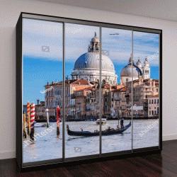 """Шкаф купе с фотопечатью """"Гранд-Канал с гондолами в Венеции, Италия"""""""