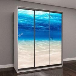 """Шкаф купе с фотопечатью """"океан с песчаным дном """""""
