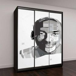 """Шкаф купе с фотопечатью """"портрет Майкла Джеффри Джордана"""""""