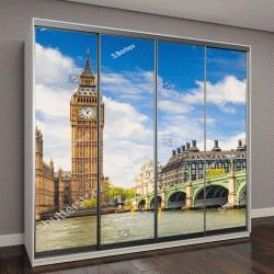"""Шкаф купе с фотопечатью """"Биг Бен и здание парламента, Лондон, Великобритания"""""""
