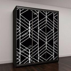 """Шкаф купе с фотопечатью """"черный геометрический узор"""""""