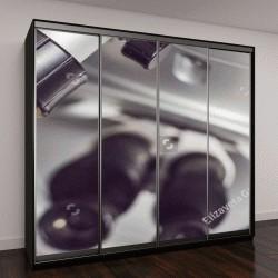 """Шкаф купе с фотопечатью """"просвечивающем электронном микроскопе в научной лаборатории баннер, длинный формат"""""""