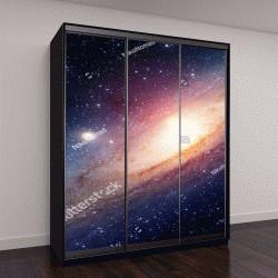 """Шкаф купе с фотопечатью """"Солнечная система галактики Млечный Путь"""""""