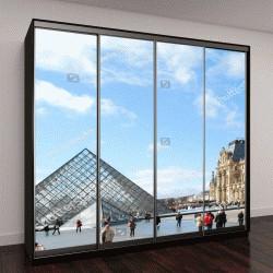 """Шкаф купе с фотопечатью """"Музей Лувр в Париже Франция"""""""