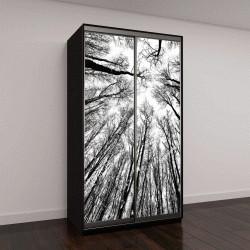 """Шкаф купе с фотопечатью """"силуэты деревьев на белом фоне"""""""