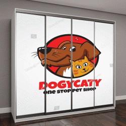 """Шкаф купе с фотопечатью """"логотип животных """""""