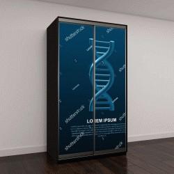 """Шкаф купе с фотопечатью """"Спирали ДНК с тенью"""""""