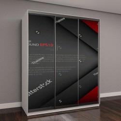 """Шкаф купе с фотопечатью """"векторный фон перекрытие измерение современной линии дизайна бара для текста и сообщений веб-дизайна , вектор"""""""