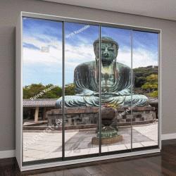 """Шкаф купе с фотопечатью """"Монументальная бронзовая статуя Большого Будды в Камакуре, Япония"""""""