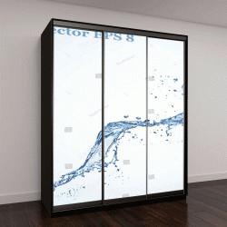"""Шкаф купе с фотопечатью """"Голубая вода всплеск, векторные иллюстрации EPS 8"""""""
