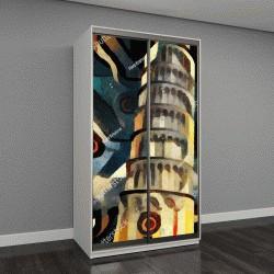 """Шкаф купе с фотопечатью """"Пизанская башня"""""""