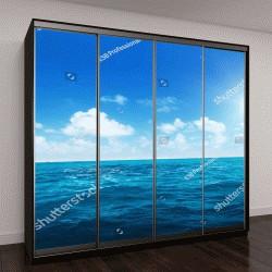 """Шкаф купе с фотопечатью """"идеальное небо и воды океана"""""""