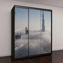 """Шкаф купе с фотопечатью """"Вид с воздуха на небоскребы """""""