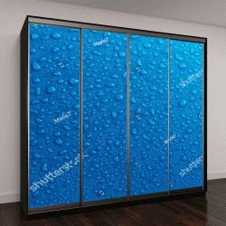 """Шкаф купе с фотопечатью """"Синие капли воды """""""