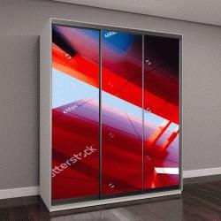 """Шкаф купе с фотопечатью """"небоскреб из красного стекла"""""""