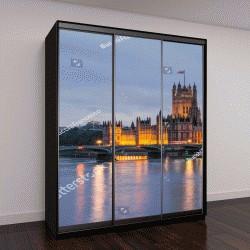 """Шкаф купе с фотопечатью """"Биг Бен и Вестминстерский мост в сумерках, Лондон, Великобритания"""""""