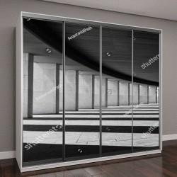 """Шкаф купе с фотопечатью """"Длинный тоннель с колоннами в черном и белом"""""""
