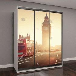 """Шкаф купе с фотопечатью """"Вестминстерский мост на закате, Лондон, Великобритания"""""""