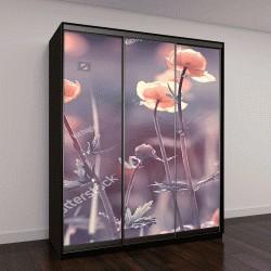 """Шкаф купе с фотопечатью """"весенняя природа, солнце, растения"""""""