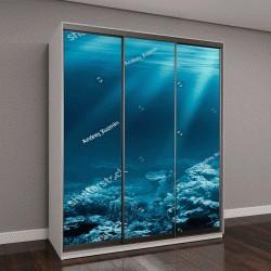 """Шкаф купе с фотопечатью """"океан под водой с коралловым рифом """""""