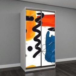 """Шкаф купе с фотопечатью """"Абстрактная живопись с элементами масляной краски"""""""
